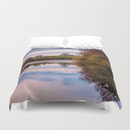 View over pond Duvet Cover