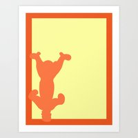 tigger Art Prints featuring Tigger by JessicaSzymanski