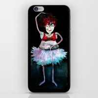 ballerina iPhone & iPod Skins featuring Ballerina by clemm