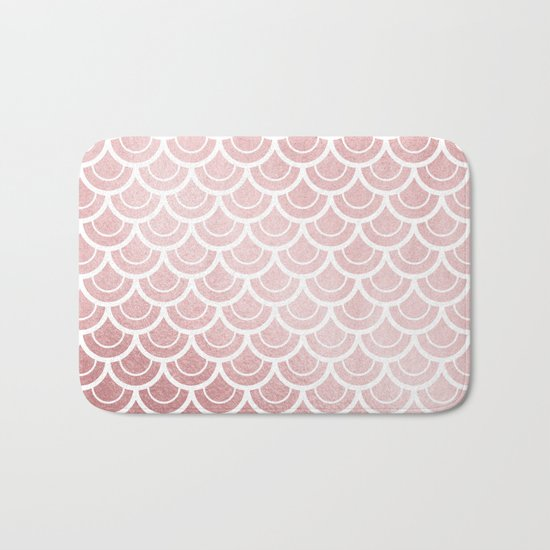 Simply Mermaid in Rose Gold Sunset Bath Mat