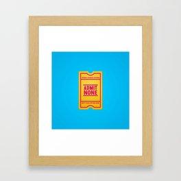 Censorship Framed Art Print