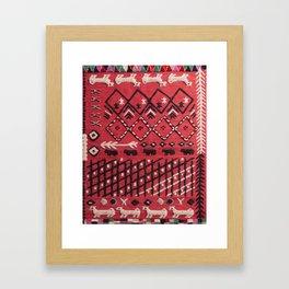 V22 Sheep herd Design Traditional Moroccan Carpet Texture. Framed Art Print
