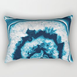 Blue White Agate #1 #gem #decor #art #society6 Rectangular Pillow