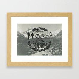 CABIN SUPPLY - weekend adventurer Framed Art Print