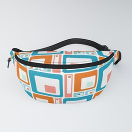 Retro Mid Century Modern Colorful Squares Fanny Pack