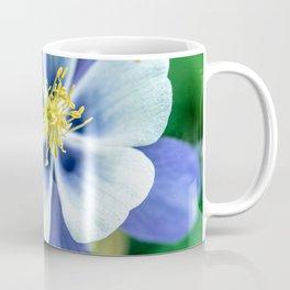 Colorado Columbine // States Flower Close up Purplish Blue Petals White and Yellow Accents Coffee Mug