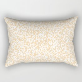 Tiny Spots - White and Sunset Orange Rectangular Pillow