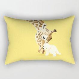 Giraffe Polar Bear Hugs by Ballsy Creative Rectangular Pillow