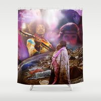 woodstock Shower Curtains featuring Woodstock 1969 by ZiggyChristenson