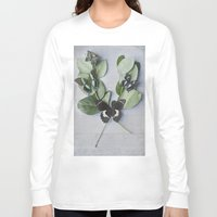botanical Long Sleeve T-shirts featuring Butterfly Botanical  by Pure Nature Photos