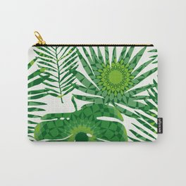 Tropical Plants Leaves With Manadalas Seamless Pattern Carry-All Pouch
