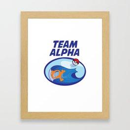 Team Alpha Sapphire Framed Art Print