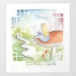 Dreaming of Wonderland Art Print