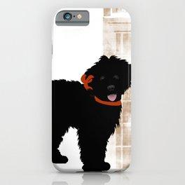Black Labradoodle dog iPhone Case