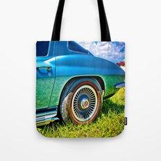 Blue Chevrolet Corvette Sting Ray Tote Bag