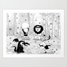 Hooray winter is coming! Art Print