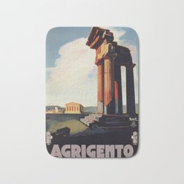 Vintage 1920s Agrigento Italian travel ad Bath Mat