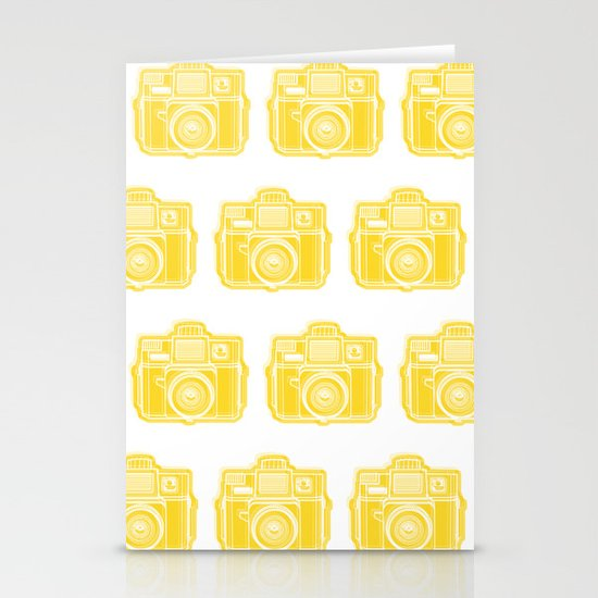 I Still Shoot Film Holga Logo - Sunshine Yellow Stationery Cards