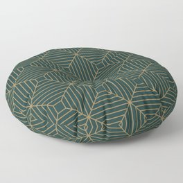 Green Velvet Tile Floor Pillow