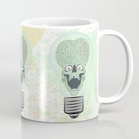 gore Mugs featuring Think Martian  by Geekleetist