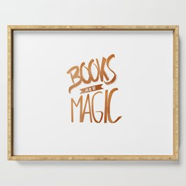 Books are Magic Serving Tray