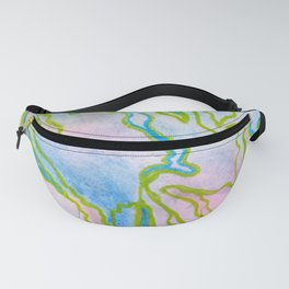 Abstract stone watercolor pattern Fanny Pack