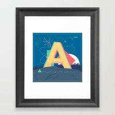 Alphabet A Framed Art Print