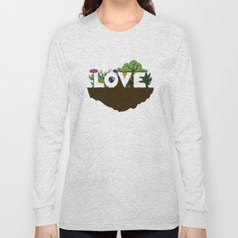 Love for Nature in Negative Space Long Sleeve T-shirt