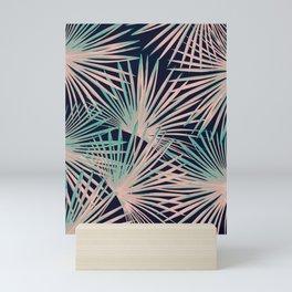Tropical Fan Palm Leaves #5 #tropical #decor #art #society6 Mini Art Print