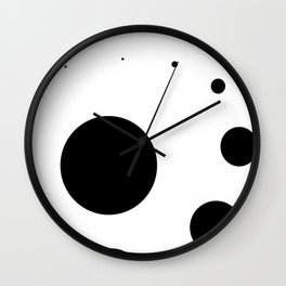 oscillating circles spheres black Wall Clock