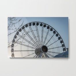 Ferris Wheel at Sunset Metal Print