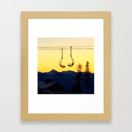 Big White Sunrise Framed Art Print