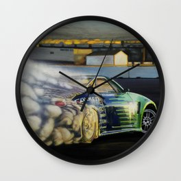 Drifting Car III Wall Clock