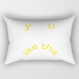 Y U LIKE THIS Frowny Face in Lemon Yellow Rectangular Pillow