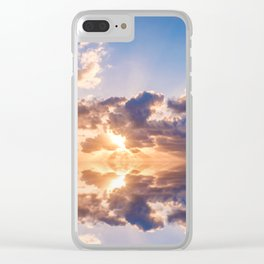 sunset sky over ocean water - landscape photography Clear iPhone Case