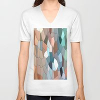 mosaic V-neck T-shirts featuring mosaic  by  Agostino Lo Coco