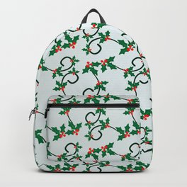 Holly Berries pattern Backpack