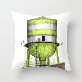 Montreal's Water Tower (Lachine Canal) Throw Pillow