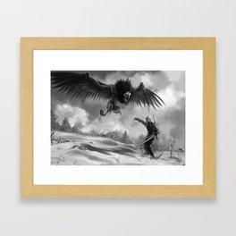 The beast of White Orchard Framed Art Print