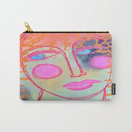 Blonde Curls Abstract Digtial Painting Carry-All Pouch