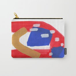 Minimalist Abstract Fun Mid Century Colorful Primary Colors Red Yellow Blue Juvenile Playful Pattern Carry-All Pouch