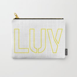 LUV Yellow Carry-All Pouch