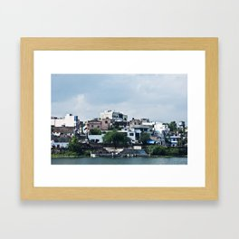 Lakeside in Udaipur, India Framed Art Print