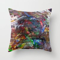 war Throw Pillows featuring WAR by JStudio Art