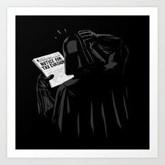 Darth Evader Art Print