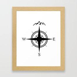 Mountain Compass Framed Art Print