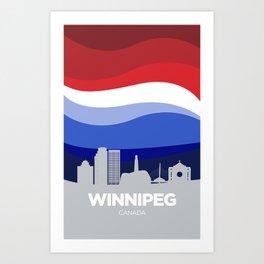 Winnipeg (Winter) Art Print