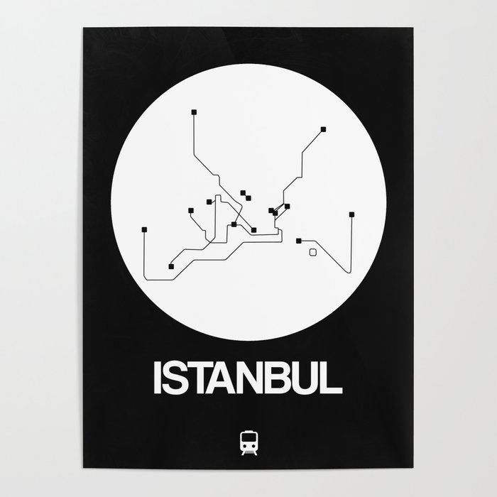 Subway Map Of Istanbul.Istanbul White Subway Map Poster By Naxart