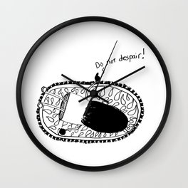 Do Not Despair Girl Wall Clock