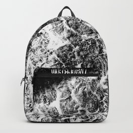 Twisted (Black & White) by TygerB.com Backpack